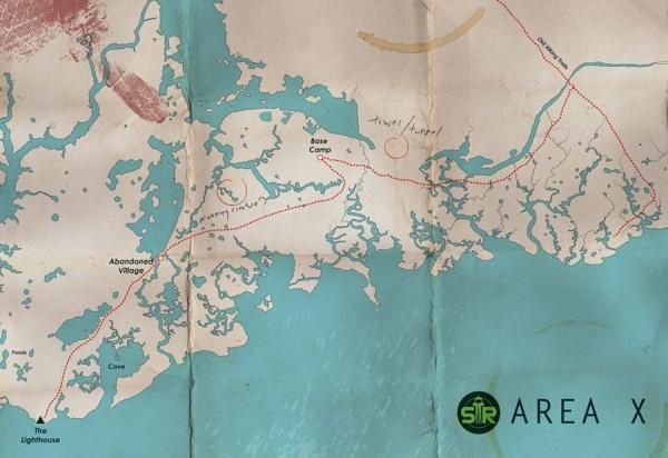 Mapa Área X
